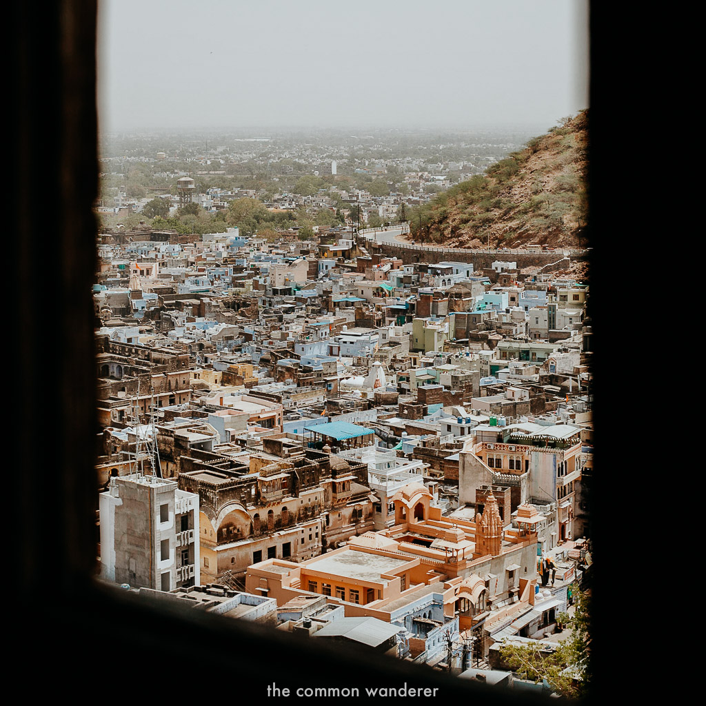 The view of Bundi from Garh Fort