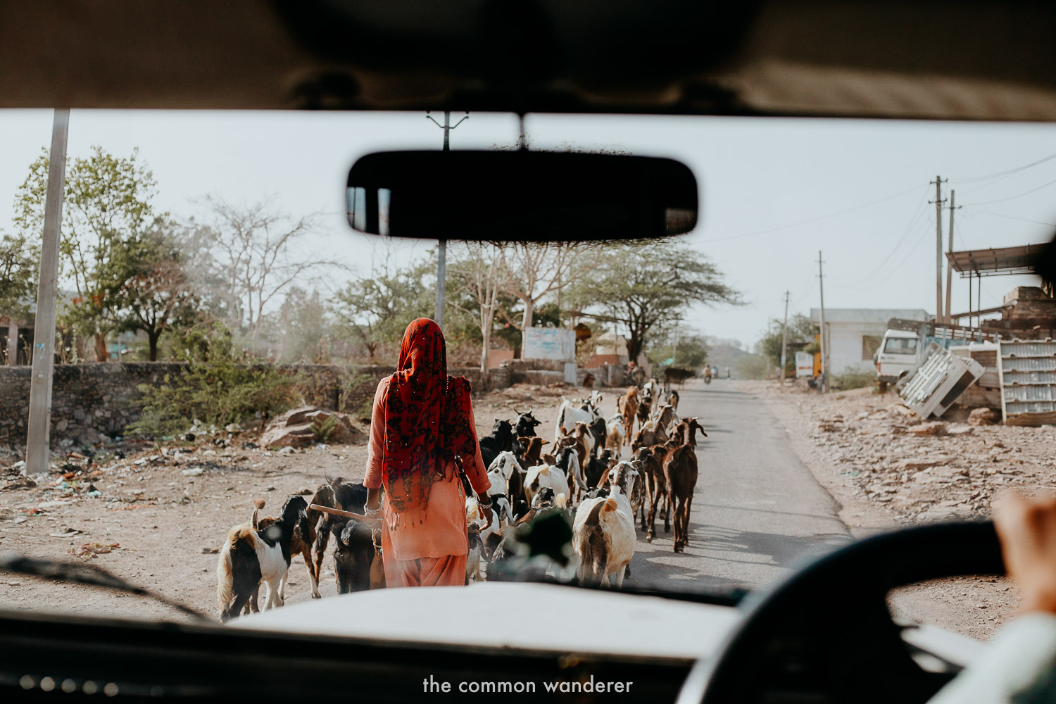 Driving into the town of Bundi, Rajasthan