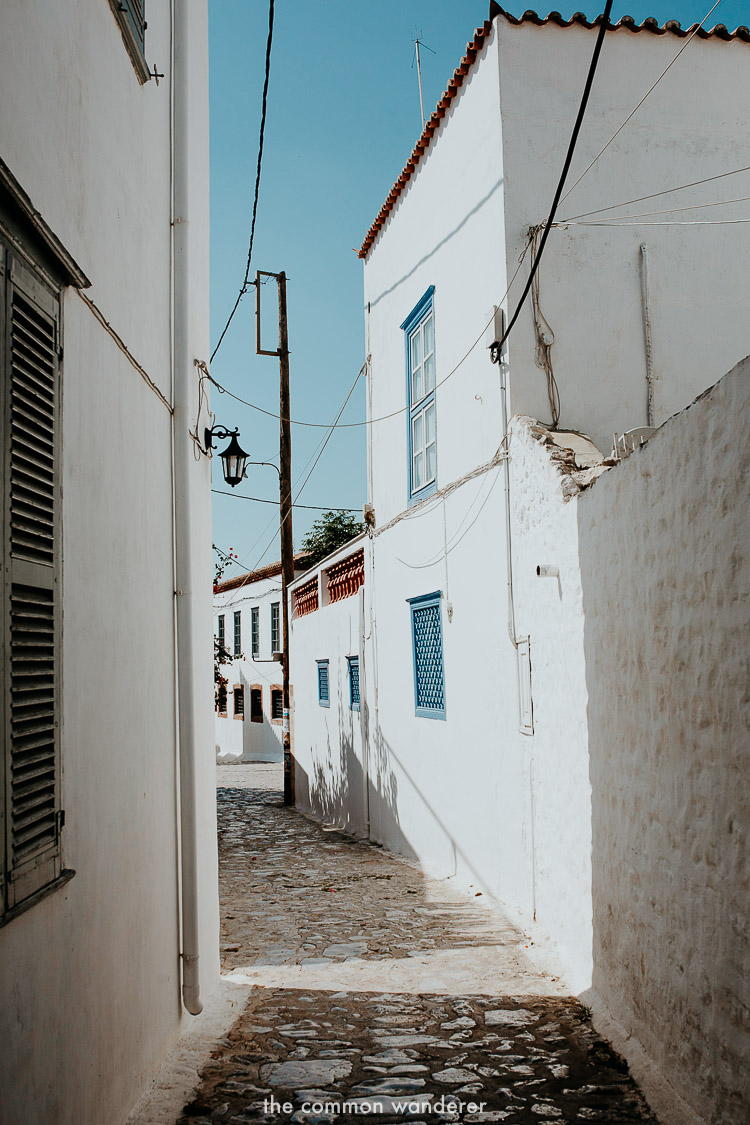 the beautiful streets of Hydra, Greece