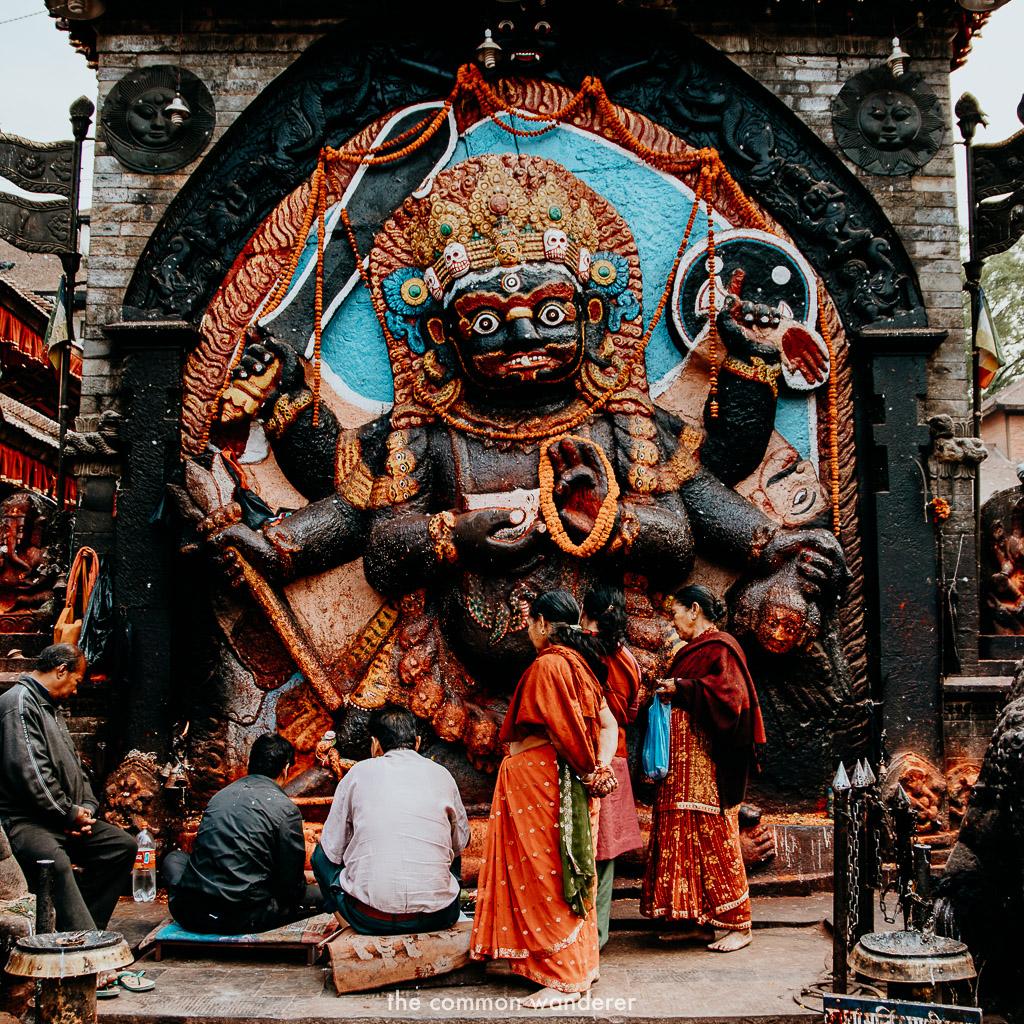 Ladies in Kathmandu Durbar Square, Nepal