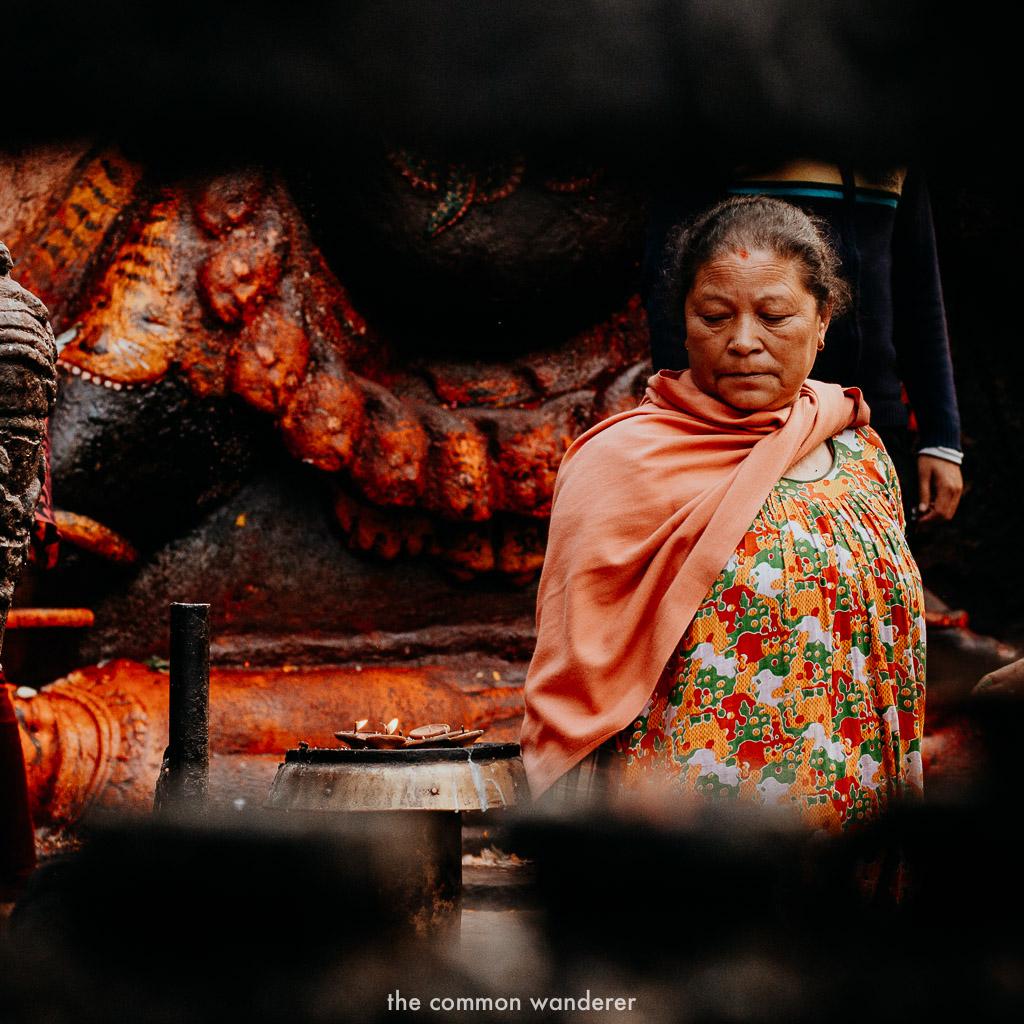 A woman in Kathmandu Durbar Square, Nepal