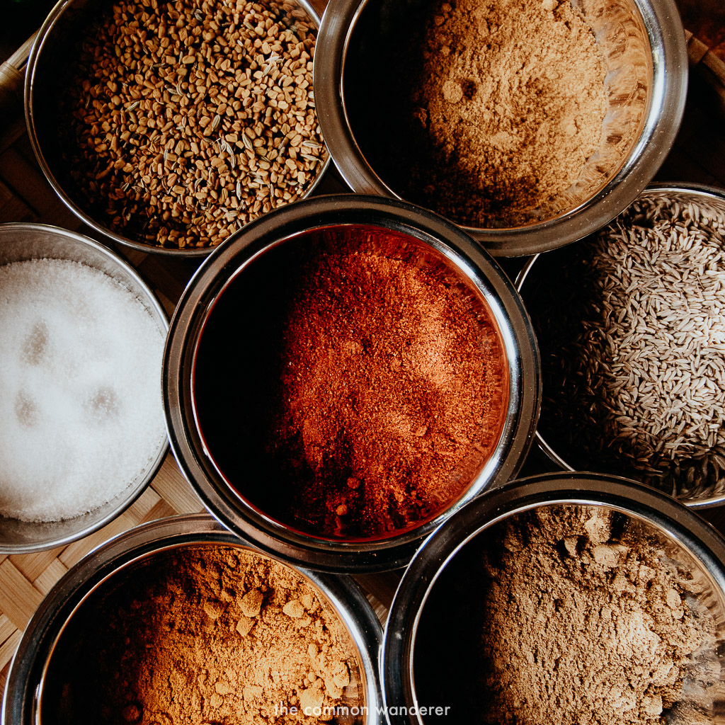 Spices used to make Nepali cuisine