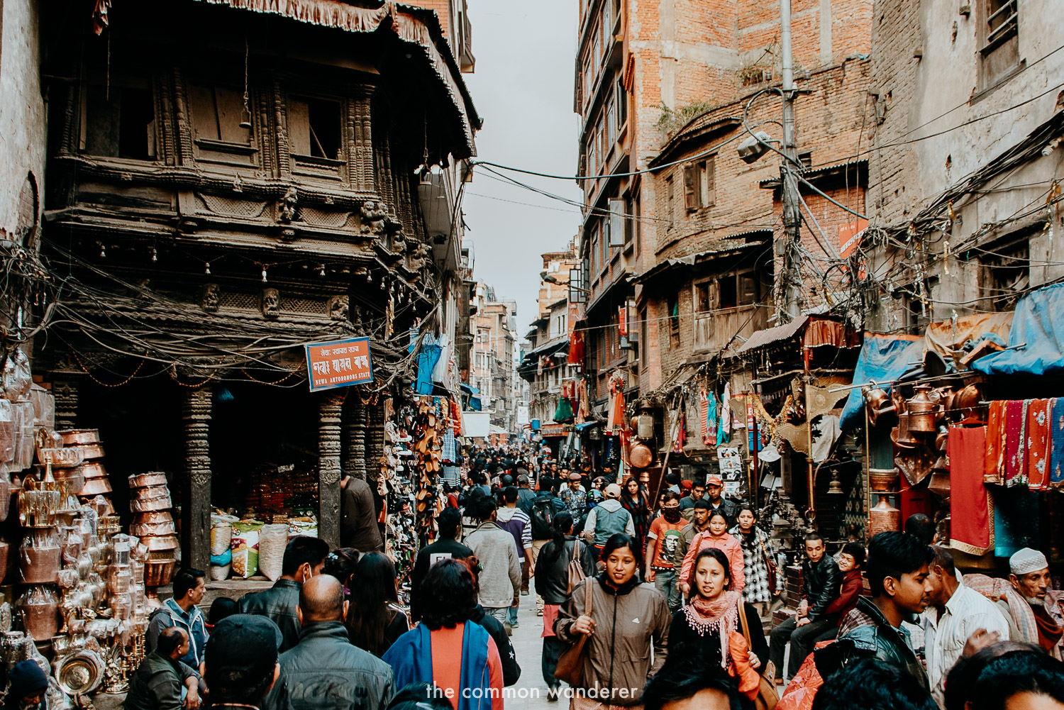Walking through Asan markets in Kathmandu, Nepal