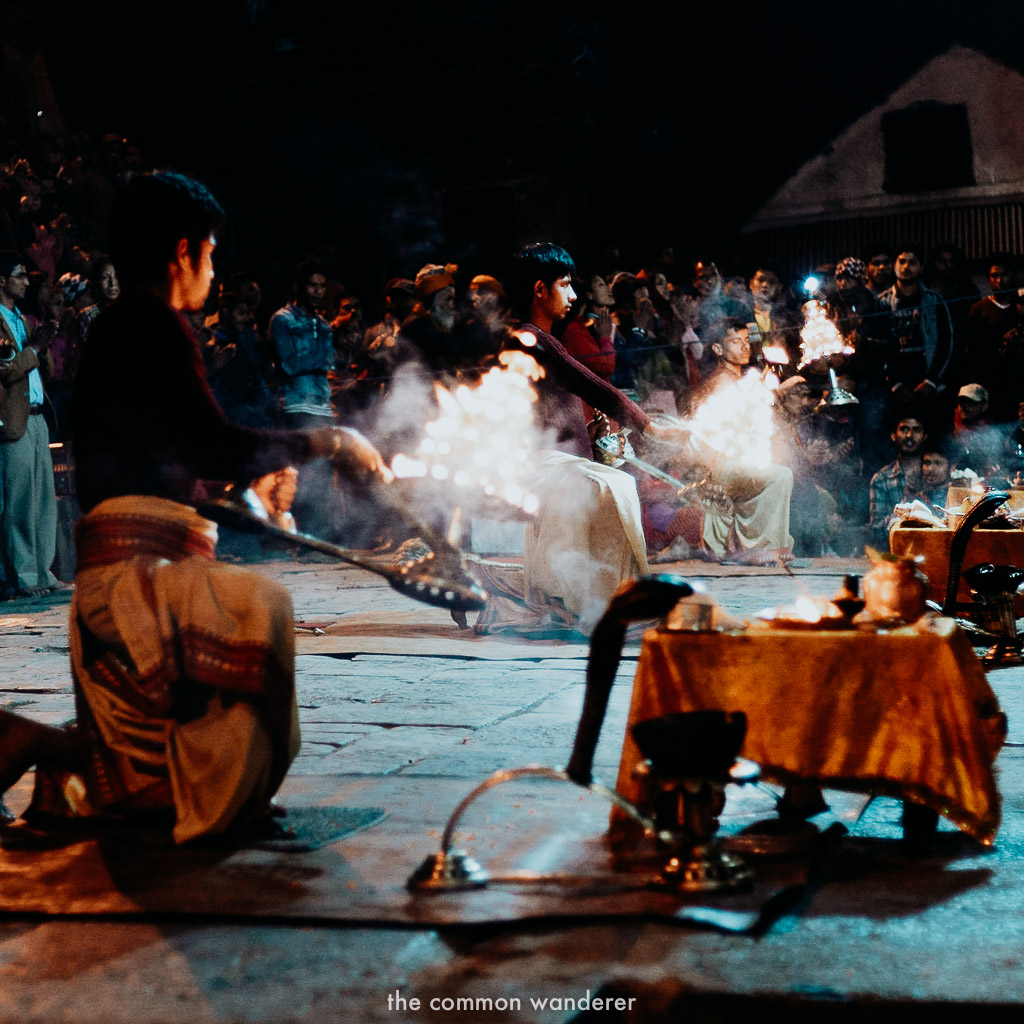 A traditional Aarti ceremony at Pashupatinath temple, Kathmandu things to do