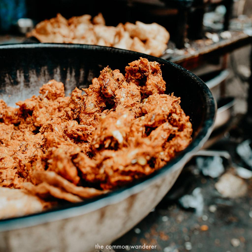 Street food snacks in Kathmandu, Nepal