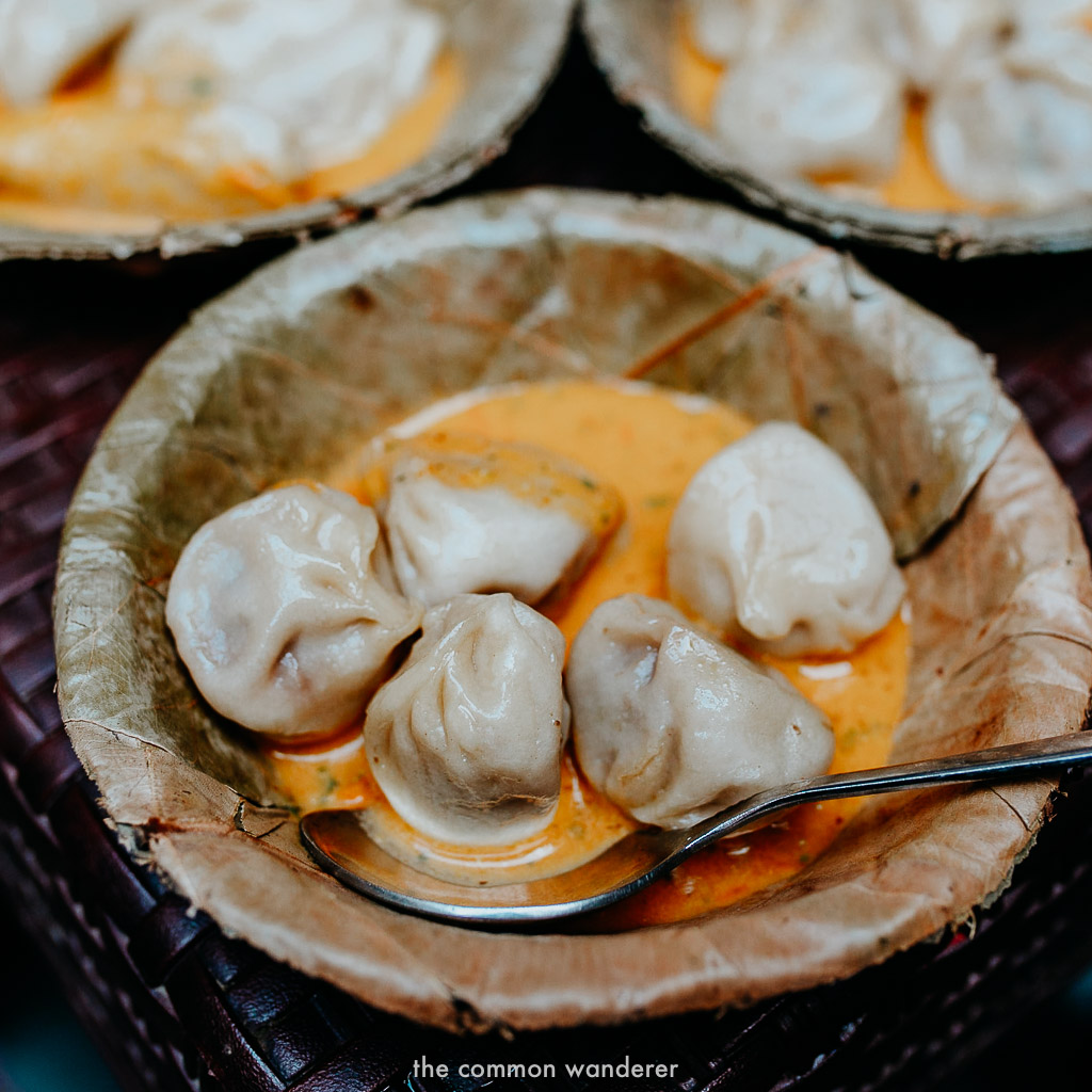 A delicious bowl of momos we ate on our Kathmandu food tour
