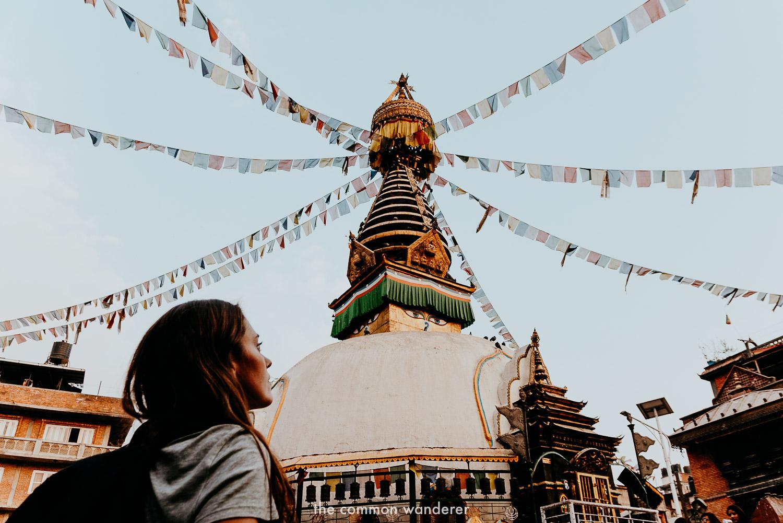 Overlooking Kathesimbhu stupa near Thamel, Kathmandu