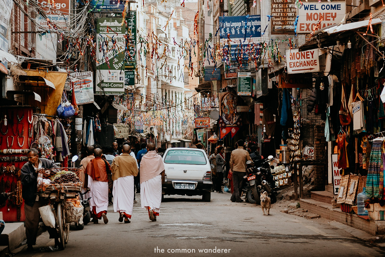 The chaotic main streets of Thamel, Kathmandu
