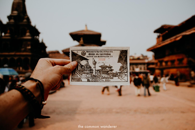 A ticket to Patan Durbar Square Kathmandu