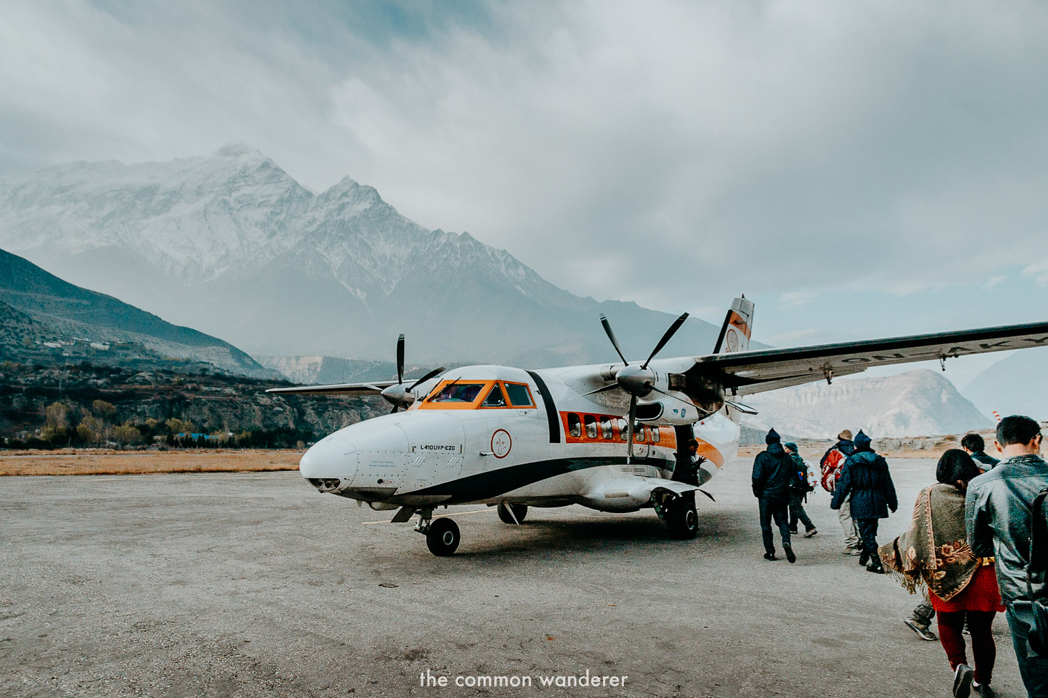 A aircraft prepares for passengers from Jomson to Pokhara - transport in Nepal