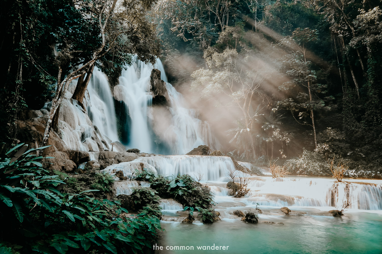 Best things to do in Laos - Kuang Si Waterfall
