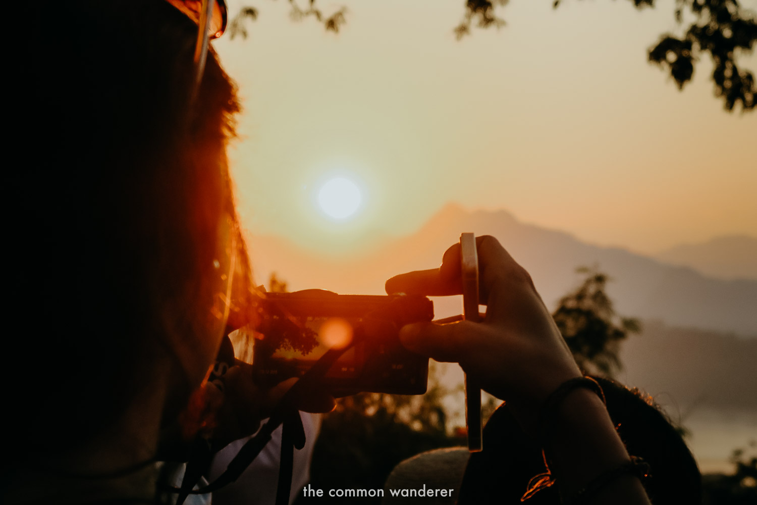 Watching sunset from Mount Phousi is one of the best things to do in Laos