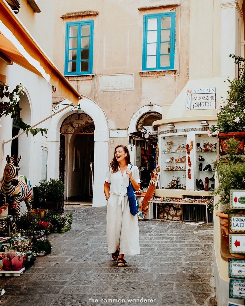exploring the island of Capri on our G Adventures local living Sorrento tour