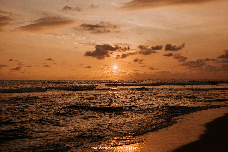 sunset surfing in Hikkaduwa, Sri Lanka