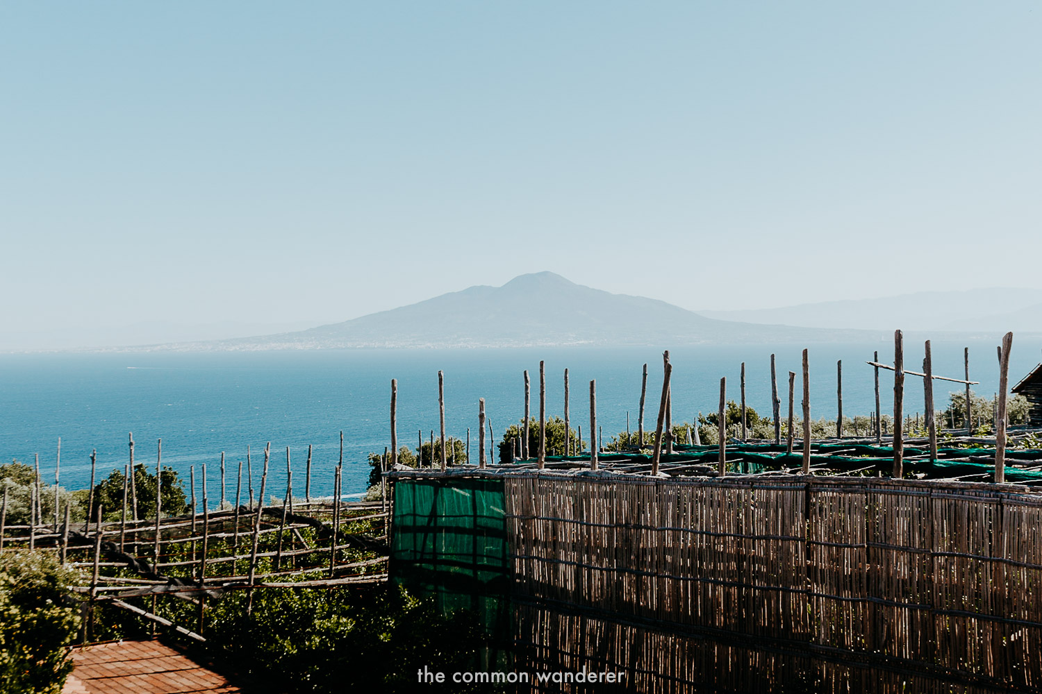 Overlooking Mt. Vesuvius from Sorrento