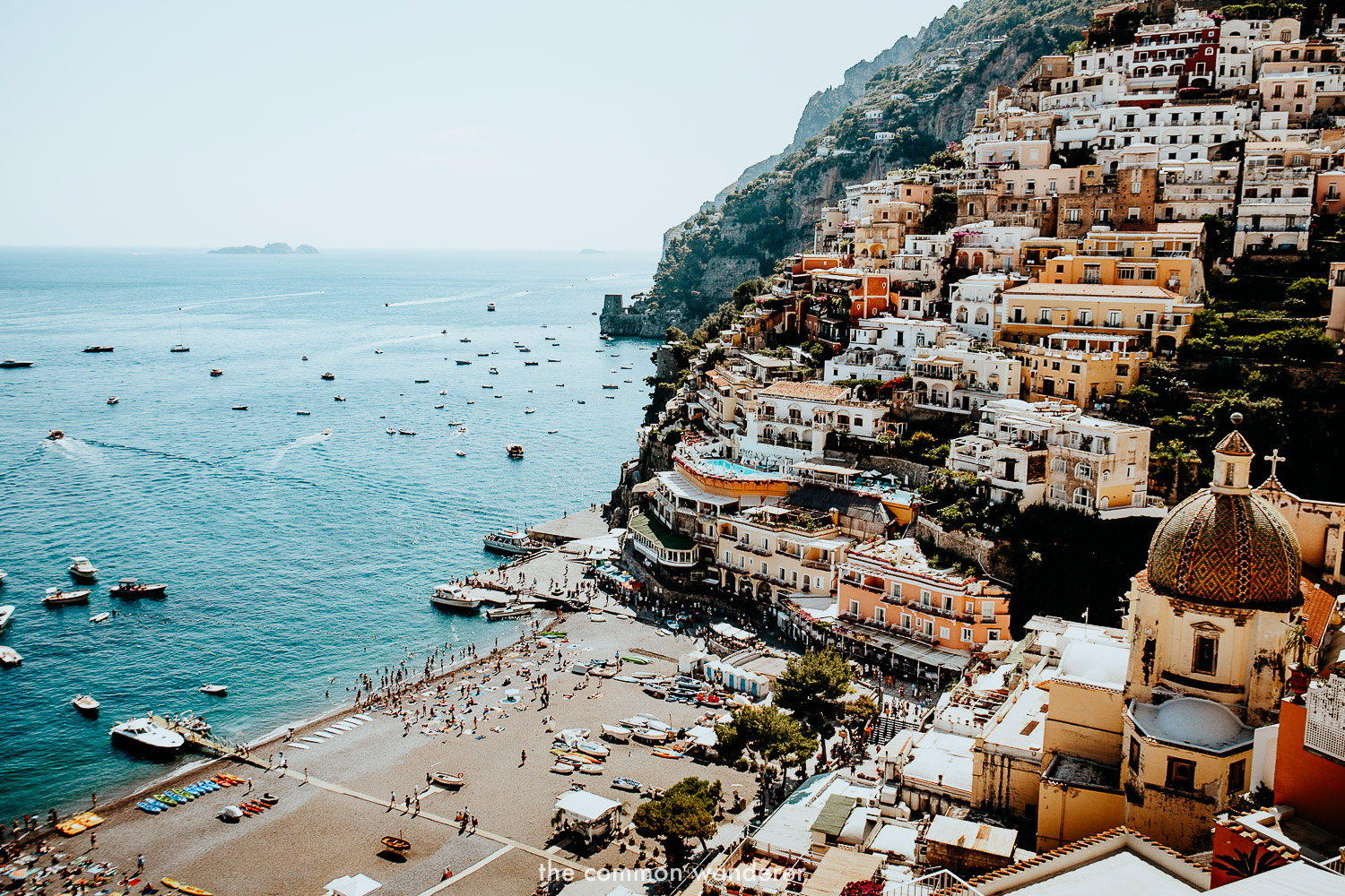 overlooking the beautiful town of Positano, Italy