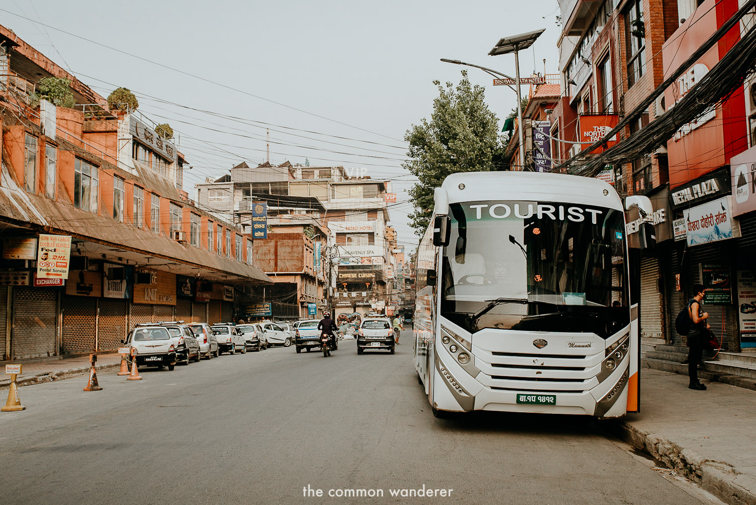 The Greenline depart point for the Kathmandu to Pokhara service