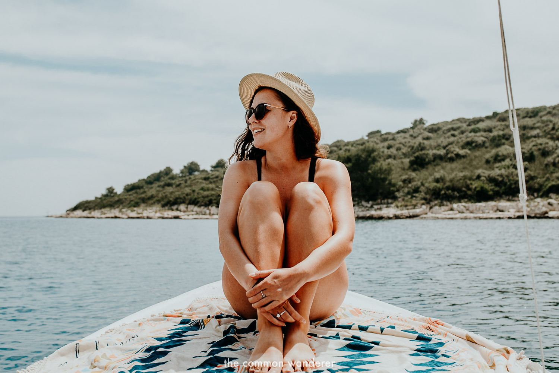 Enjoying a day on the Pakleni Islands, Hvar, Croatia