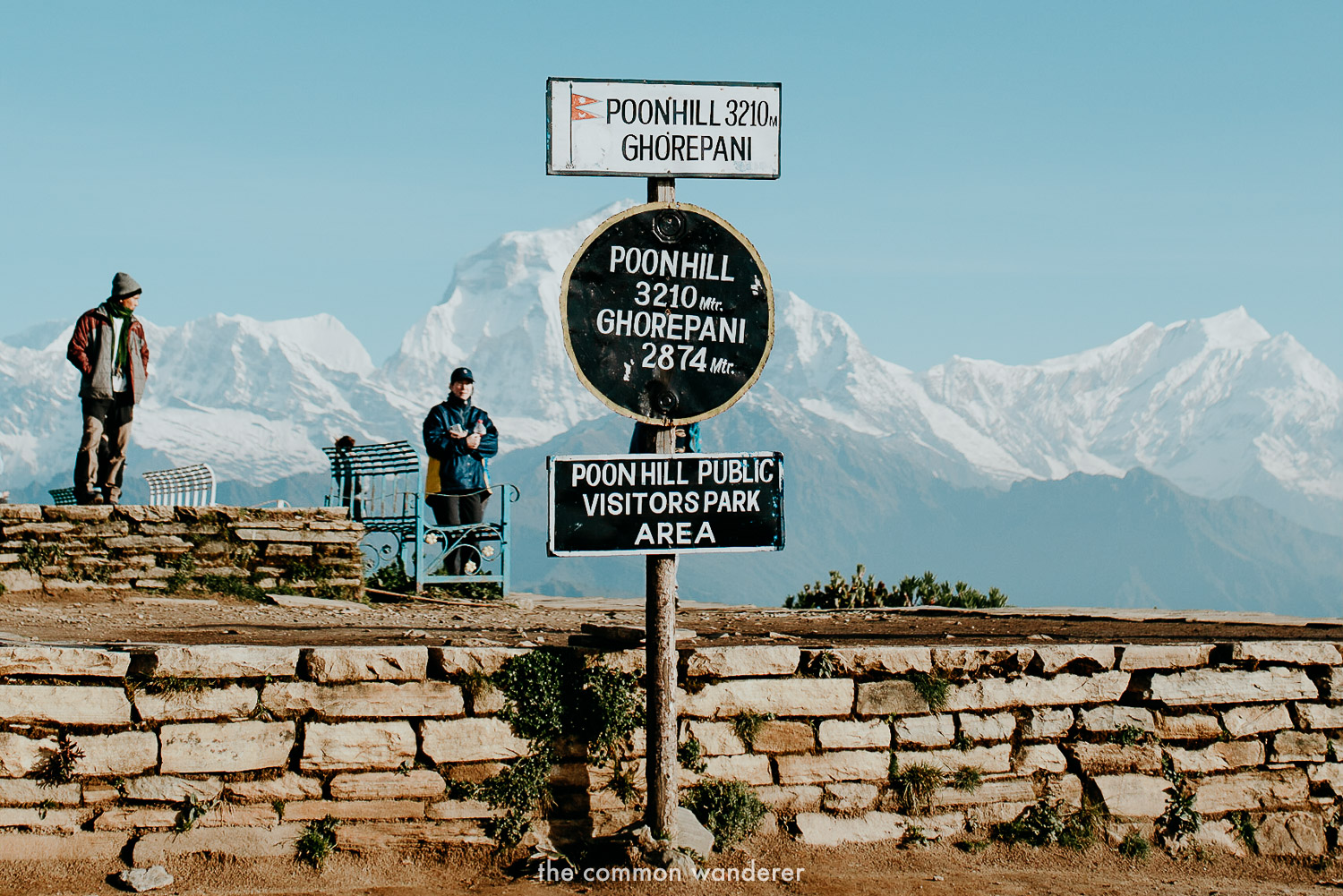 The summit of Poon Hill, Nepal