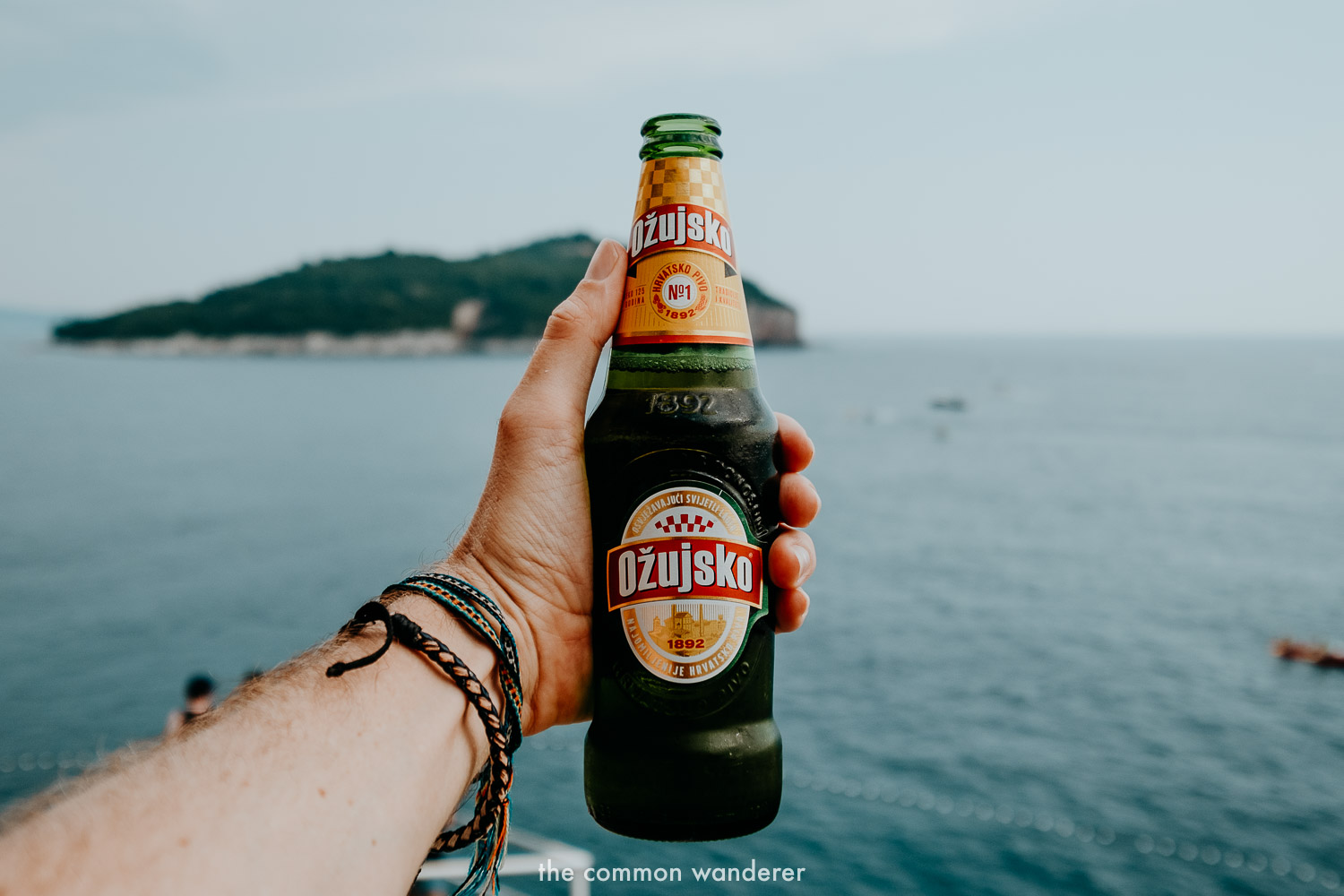 Drinking a local beer while watching the sunset is one of the best things to do in Dubrovnik