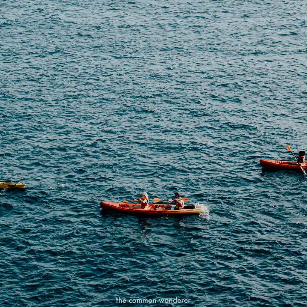 Sea kayaking is one of the best ways to see Dubrovnik
