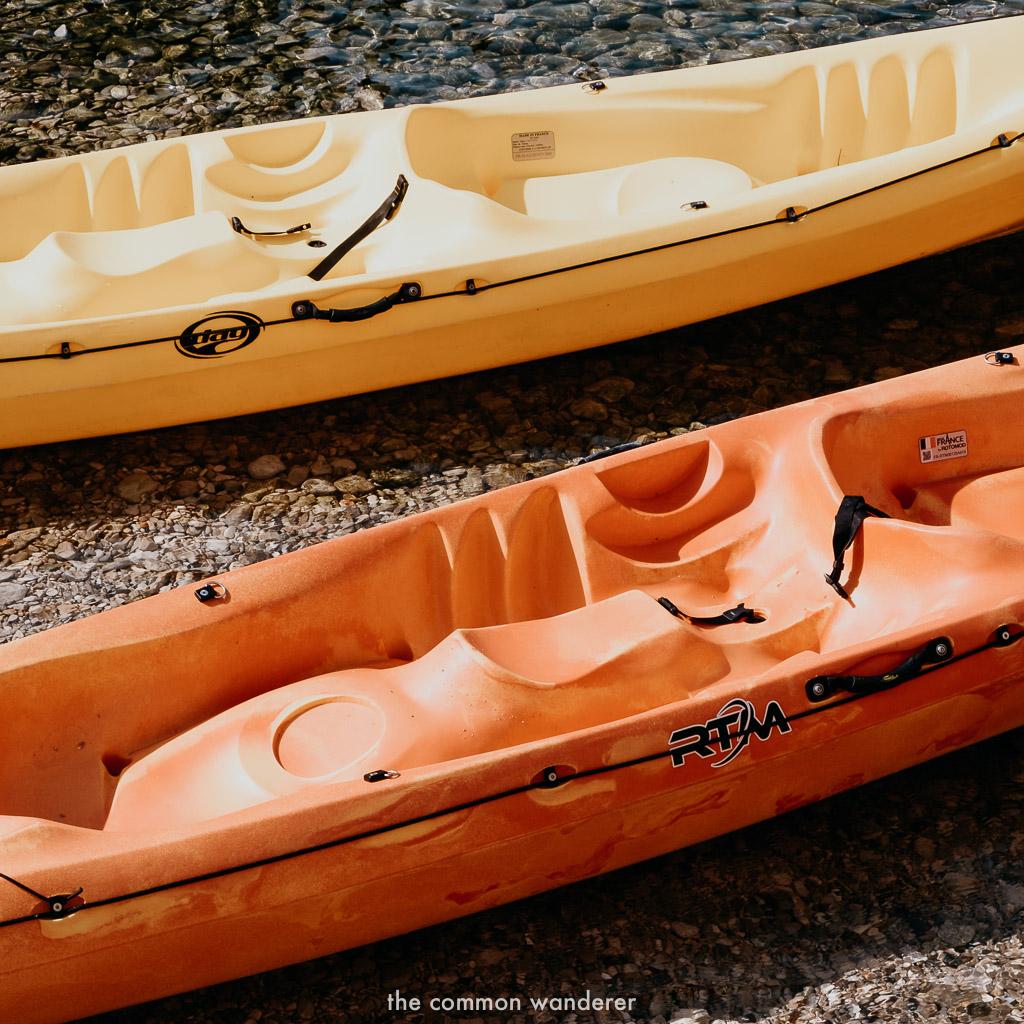 Sea kayaks by Pile Gate, Dubrovnik