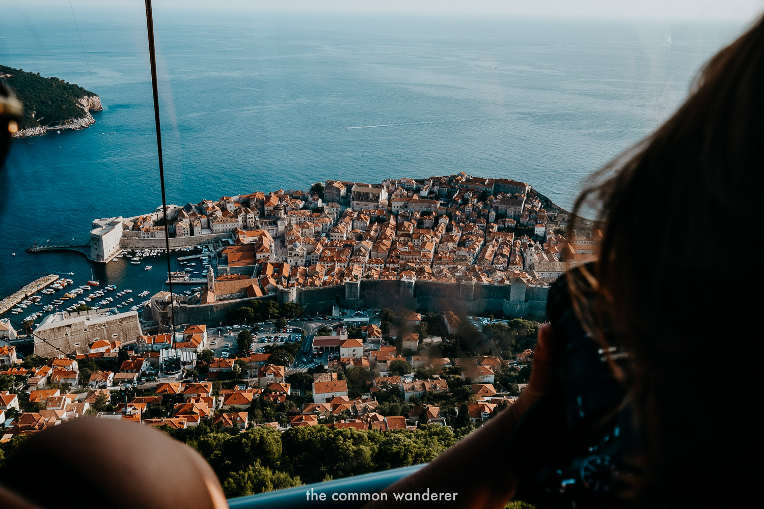 Catching the Mount Srd cable car in Dubrovnik