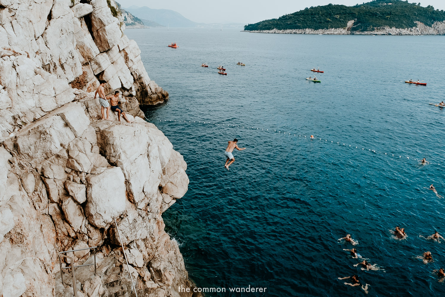 Cliff jumping in Dubrovnik is super popular