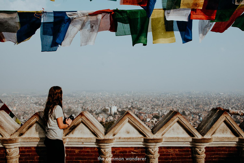 Overlooking Kathmandu from Swayambhunath stupa, Kathmandu travel guide