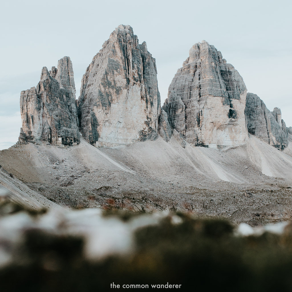 TRE CIME DI LAVAREDO HIKE DETAILS - Hike distance | 10 - 11 km loopTime | 3-4 hoursElevation Gain | 300 - 400m from Refugio Auronzo to the Paternsattel viewpointDifficulty | Easy/ModerateWhen to visit | June, September, OctoberWhat to pack | Hiking boots, water, rain jacket, camera, a massive smile