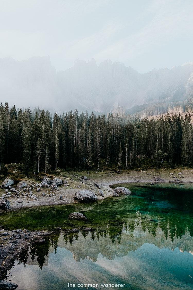 the beauty of lago di carezza, Italy