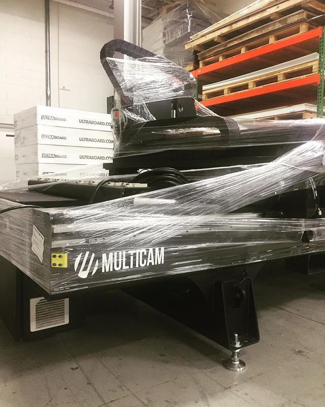 Christmas came early for our fabrication department. #Multicam #retaildesigners #signfabrication #retaildesigner