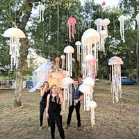 2017/06/30  France, Les Landes Happening en una boda (Decoración efímera)