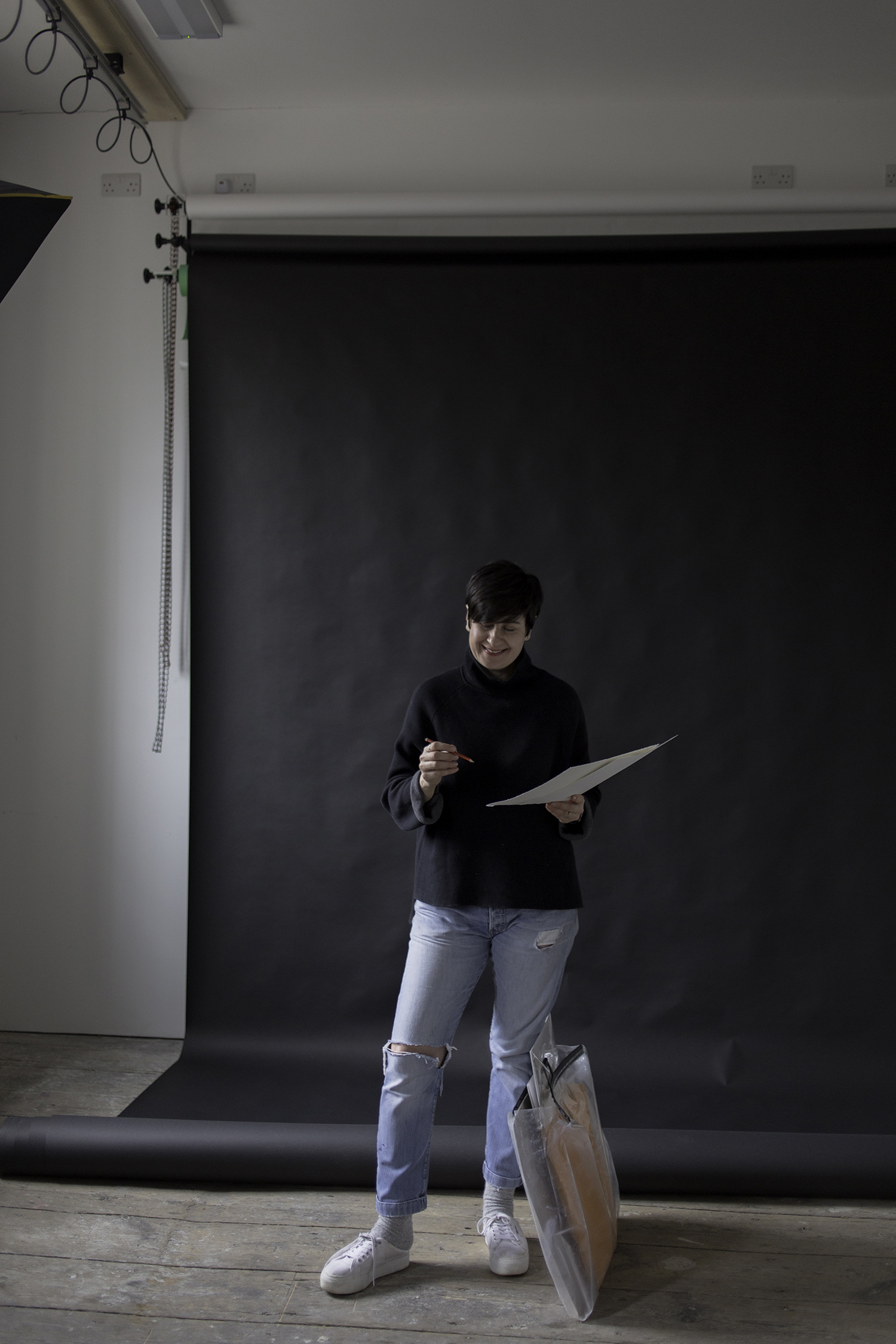 Picture of Sue during he shoot