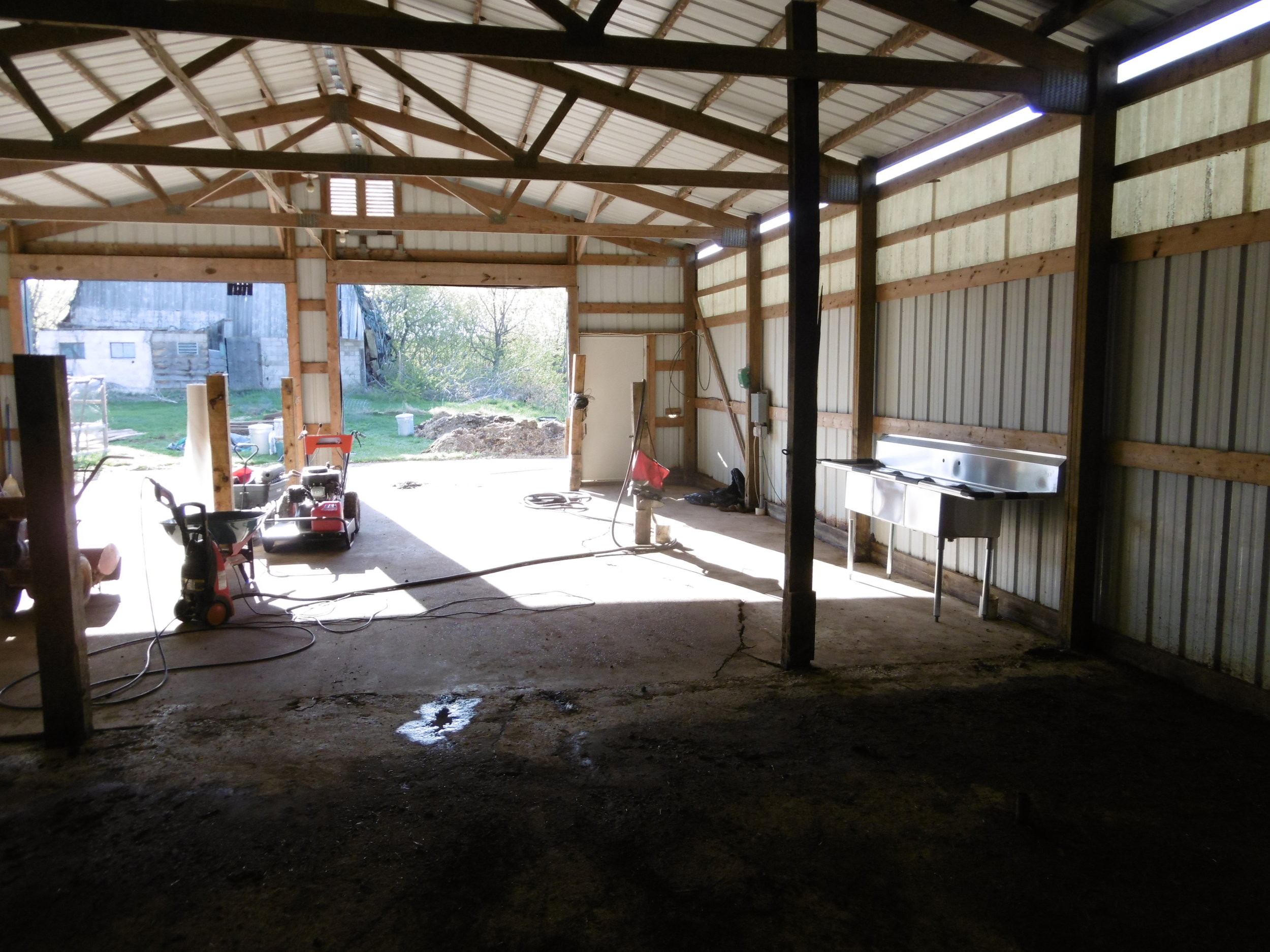 Clean barn on May 6