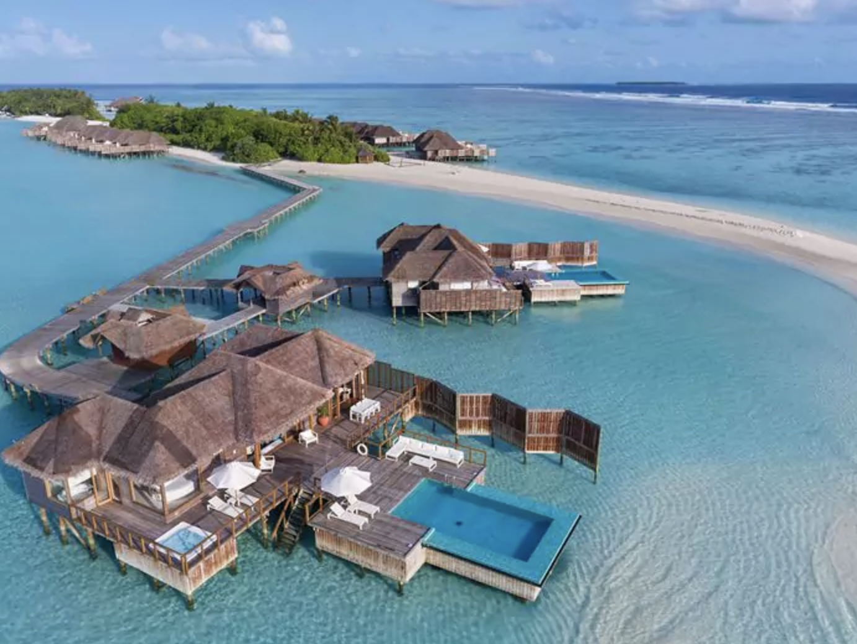 Overwater bungalows at Conrad Maldives Rangali Island, Maldives