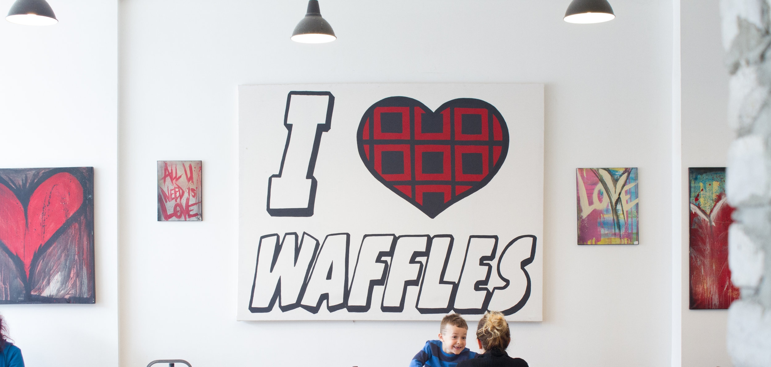 Starving Artist - I love Waffles Sign