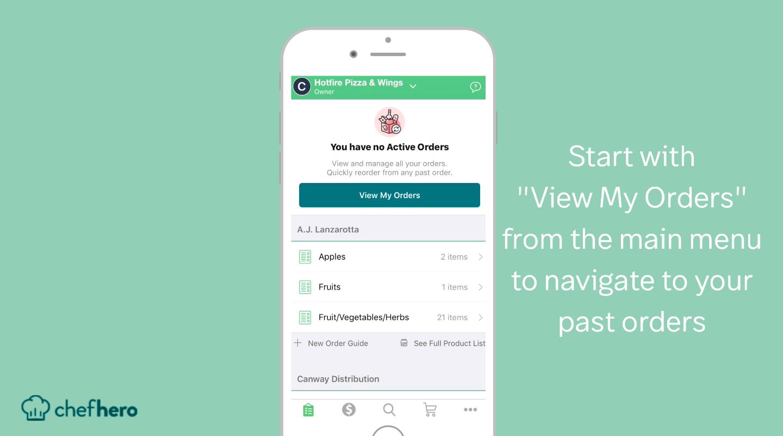 reordering chefhero restaurant supply ordering feature mobile app flow