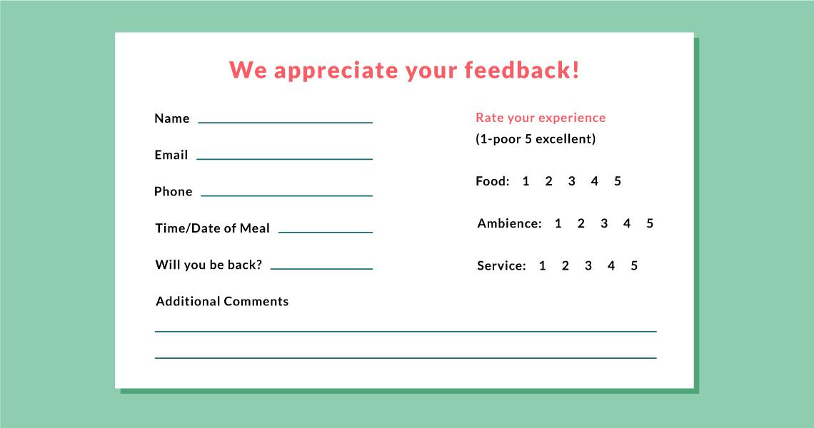 restaurant customer feedback