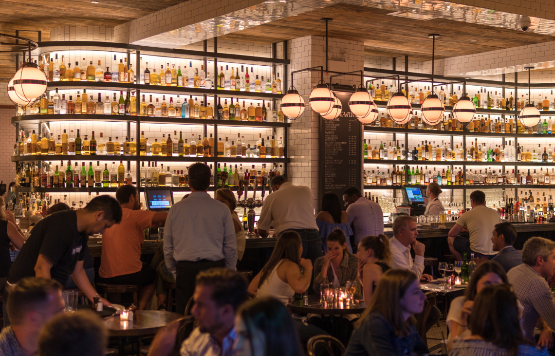 restaurant bar floor plan