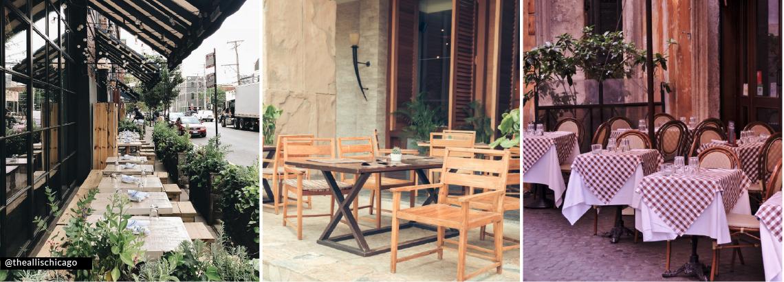 restaurant floor plan outdoor seating