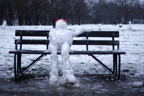 Don't be left out in the cold like this guy… - Order ahead of delivery cut offs and reduced hours for a stress free holiday season.