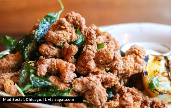 Stock image of Chicken pakora at MAD Social in Chicago (   Source   )