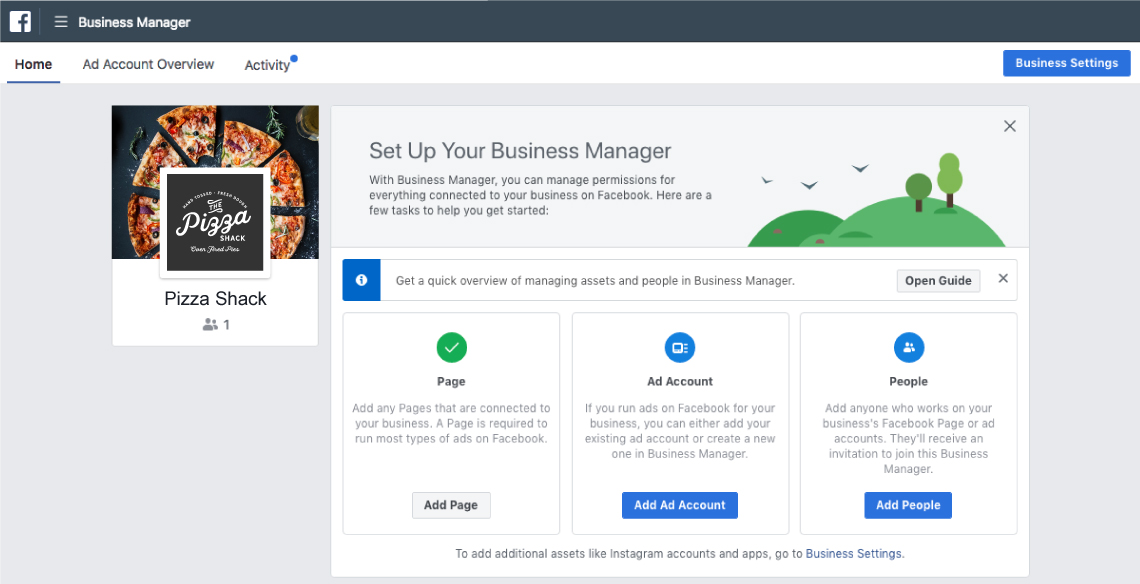 setting up facebook business and ads manager