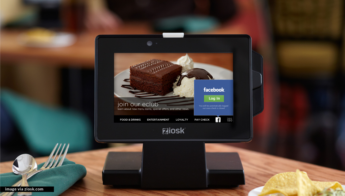Tabletop tablets + self-service checkout