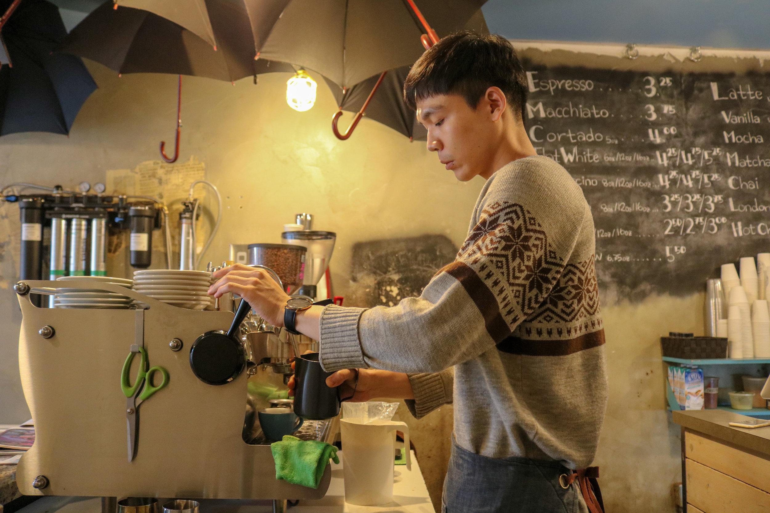 De Mello Staff Making Coffee