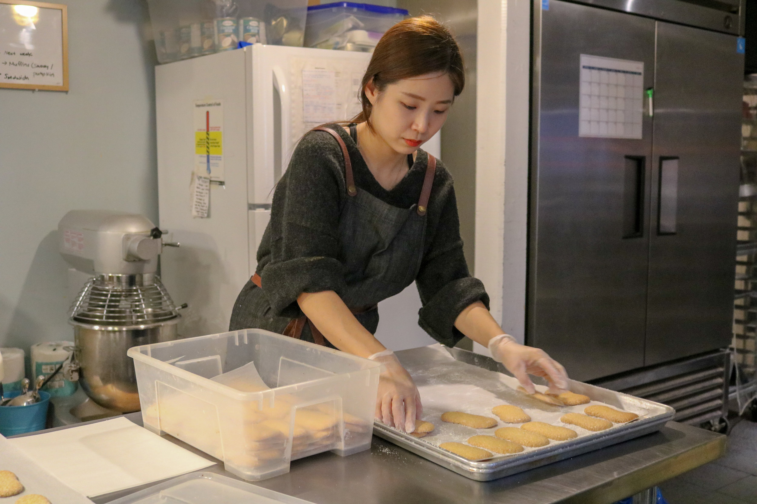 Fresh pastries are made in-house at De Mello's