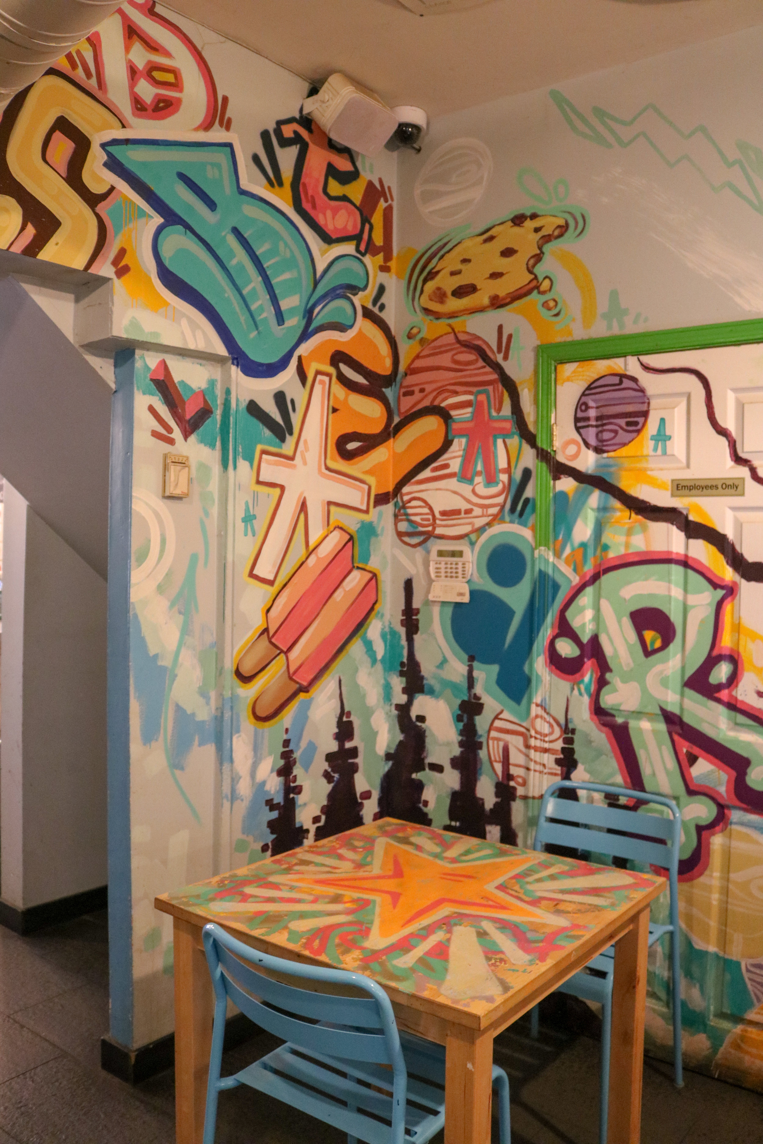 Cool wall art at De Mello
