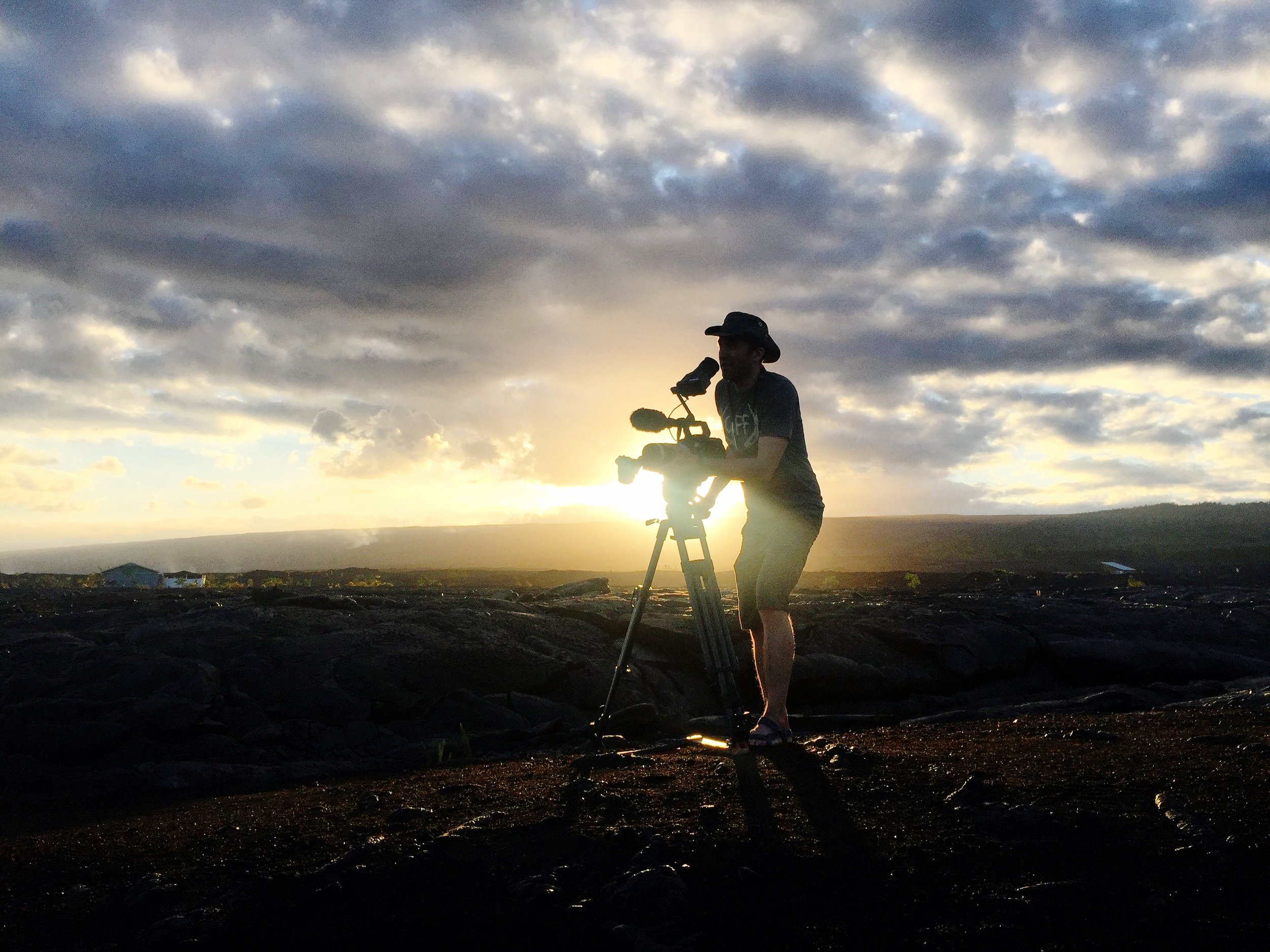Sir  Ian Cheney , intrepid director of  The Most Unknown , looking glorious as ever during sunset on a lava field (he hasn't actually been knighted, as far as I know)