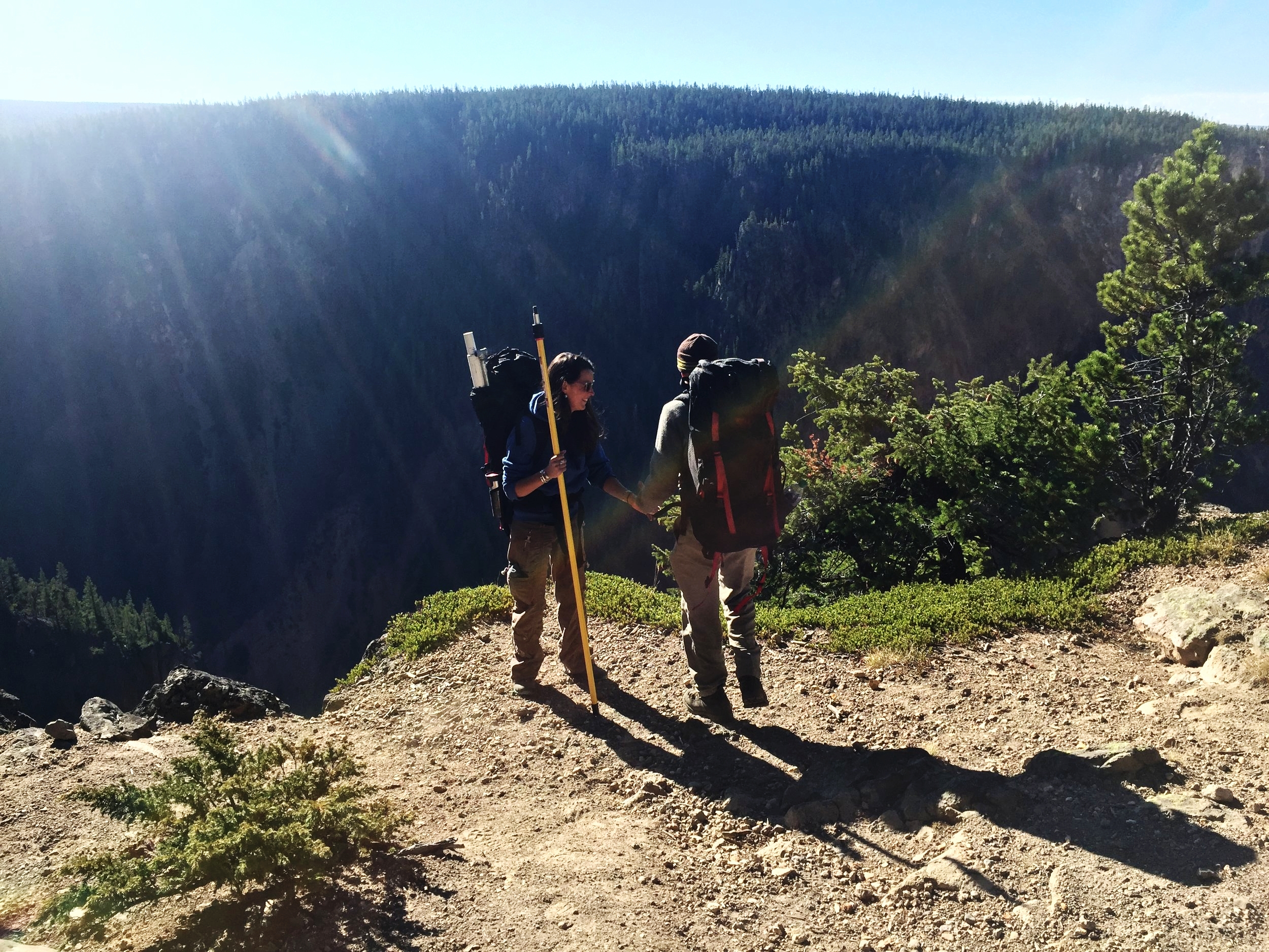 Overlooking the canyon